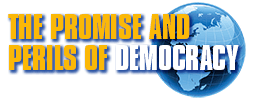 The Promise and Perils of Democracy Logo
