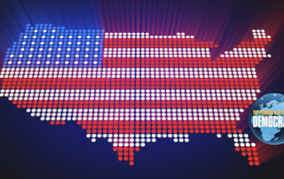 USA depicted with flag