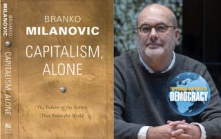Book cover - Capitalism, Alone; and Branko Milanovic