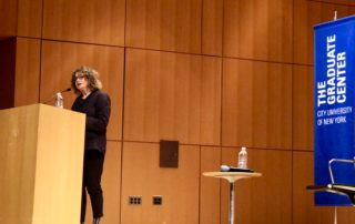 a picture of Nancy Rosenblum on the stage