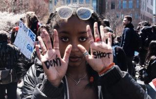 protesting girl