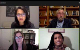 image shows life screenshot of all panelists